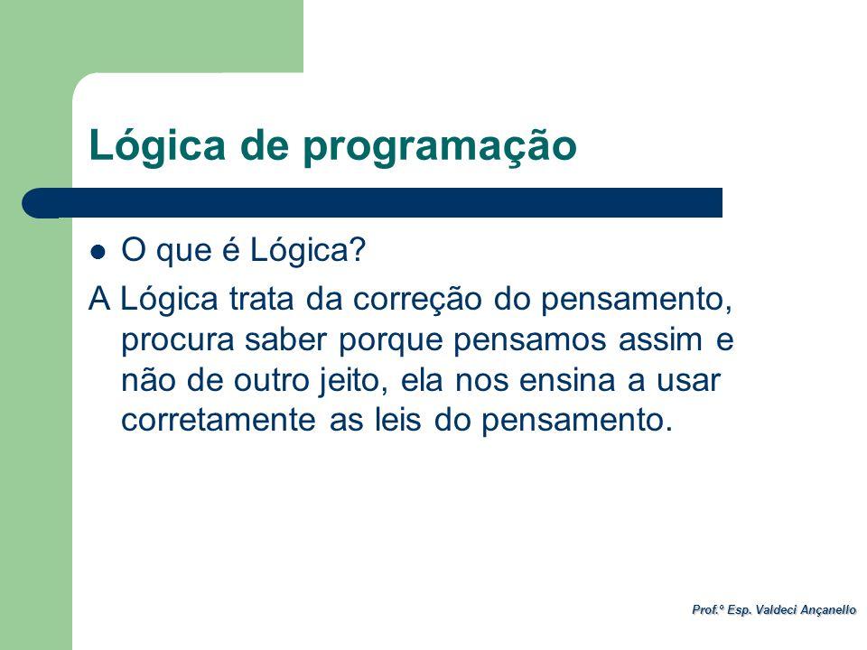 Lógica de programação O que é Lógica