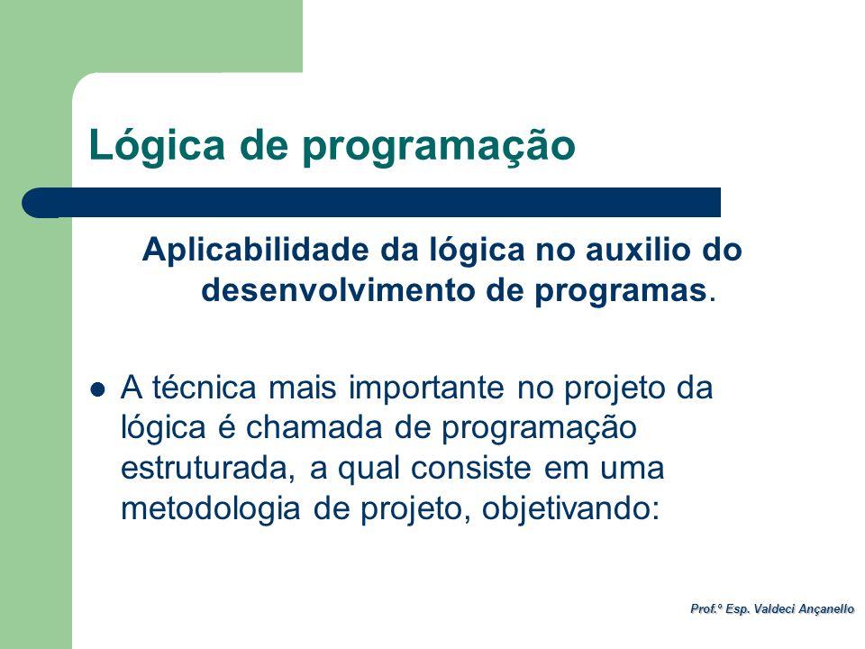 Aplicabilidade da lógica no auxilio do desenvolvimento de programas.