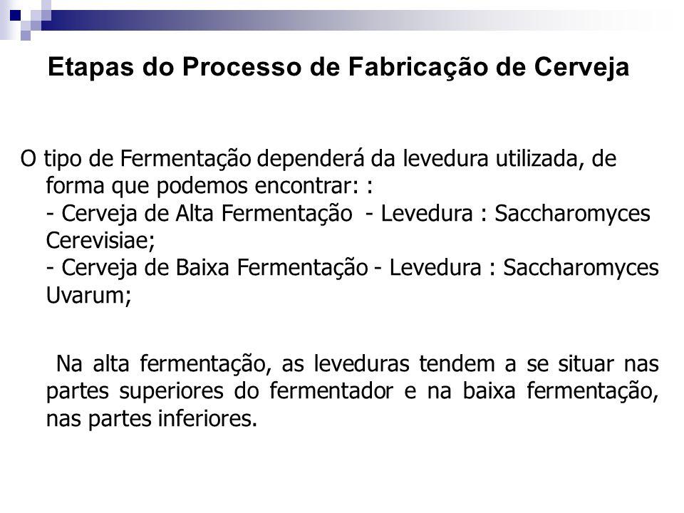 Etapas do Processo de Fabricação de Cerveja