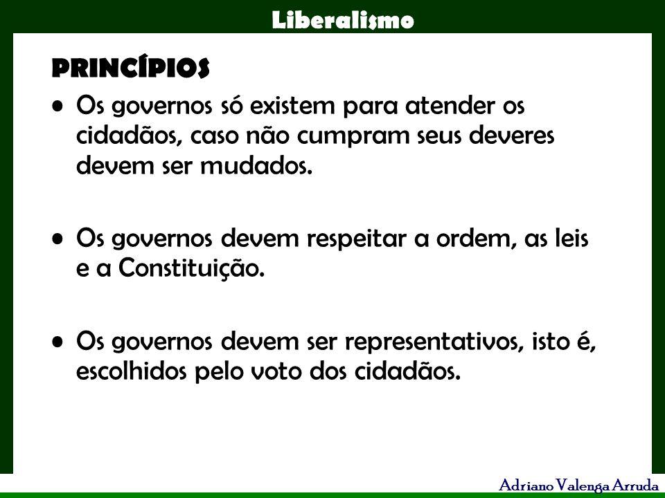 PRINCÍPIOS Os governos só existem para atender os cidadãos, caso não cumpram seus deveres devem ser mudados.