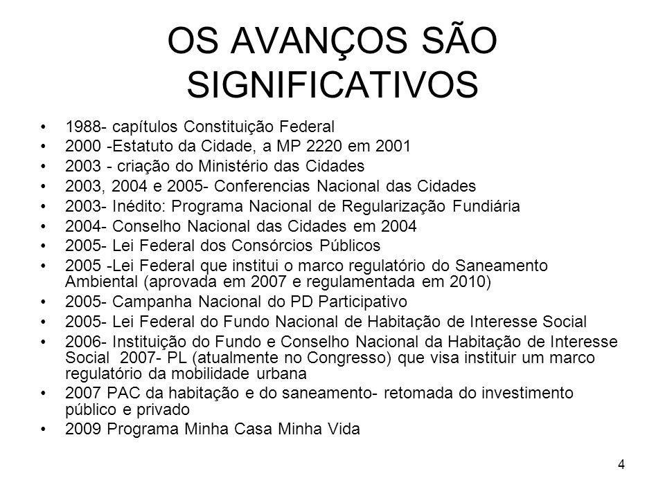 OS AVANÇOS SÃO SIGNIFICATIVOS