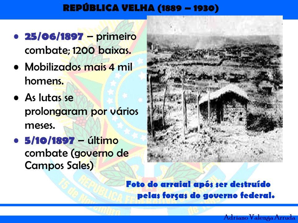 25/06/1897 – primeiro combate; 1200 baixas.