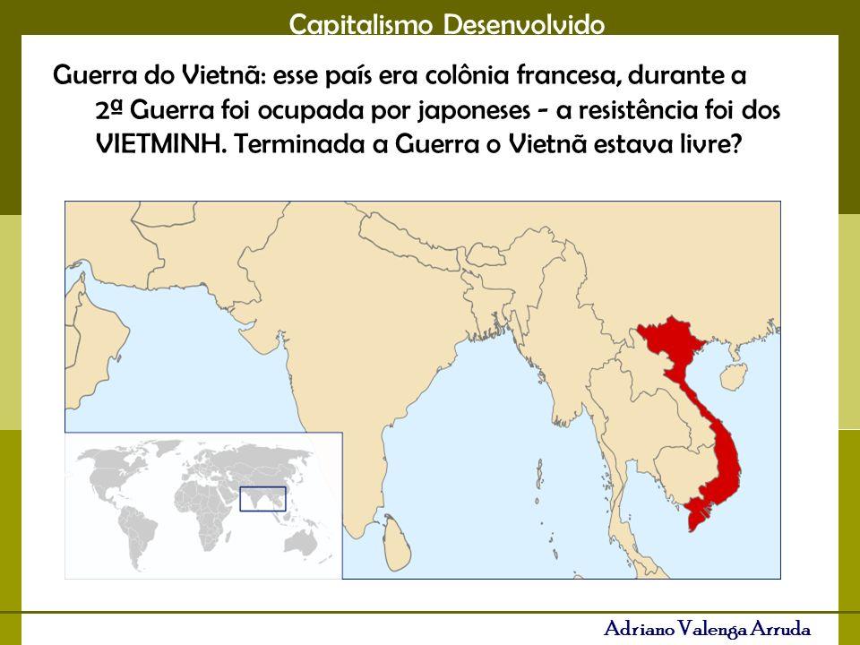Guerra do Vietnã: esse país era colônia francesa, durante a 2ª Guerra foi ocupada por japoneses - a resistência foi dos VIETMINH.