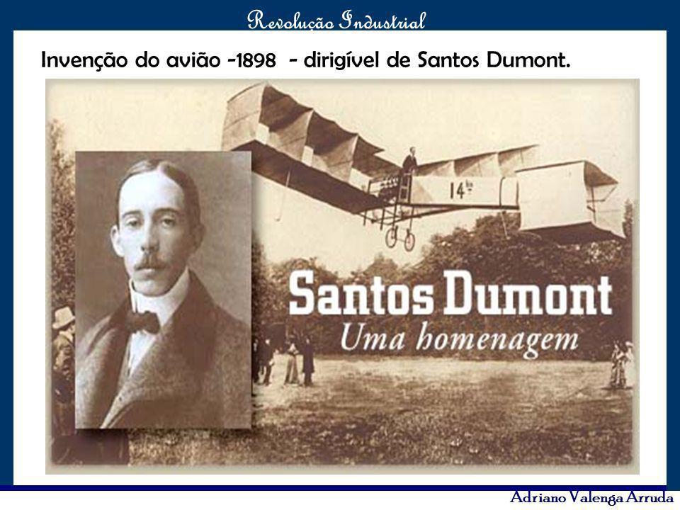 Invenção do avião -1898 - dirigível de Santos Dumont.