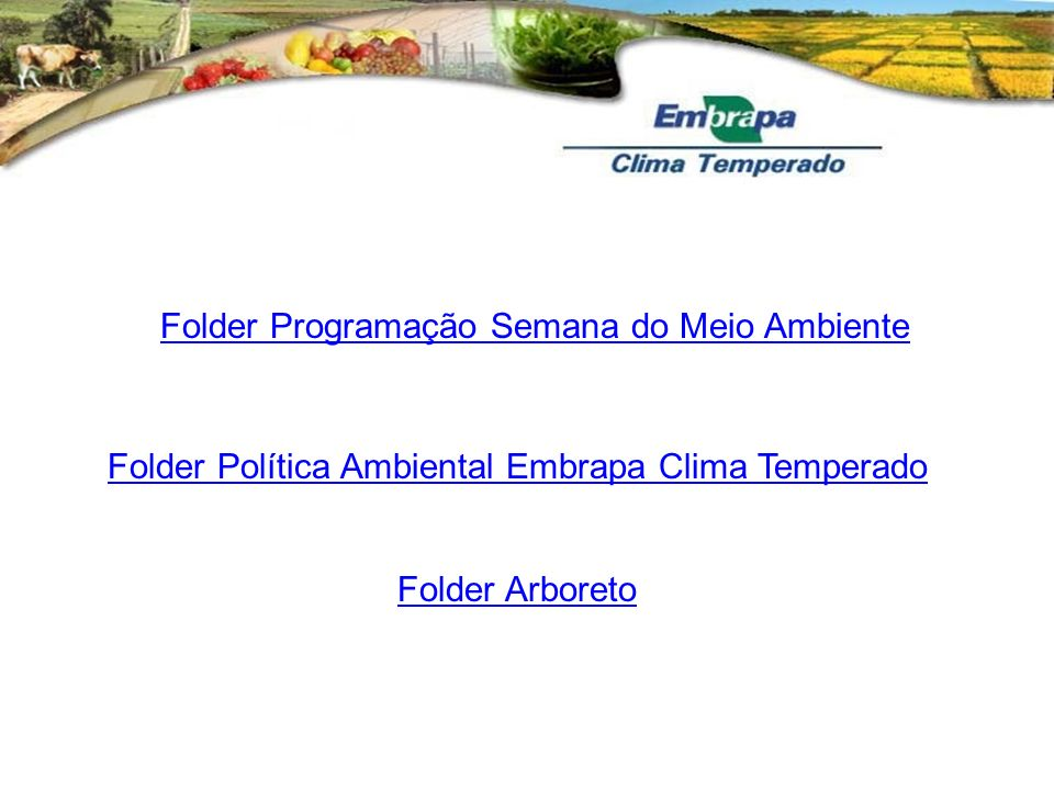 Folder Programação Semana do Meio Ambiente
