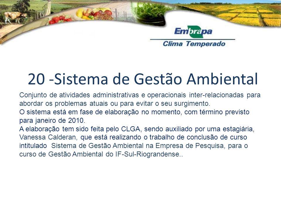 20 -Sistema de Gestão Ambiental