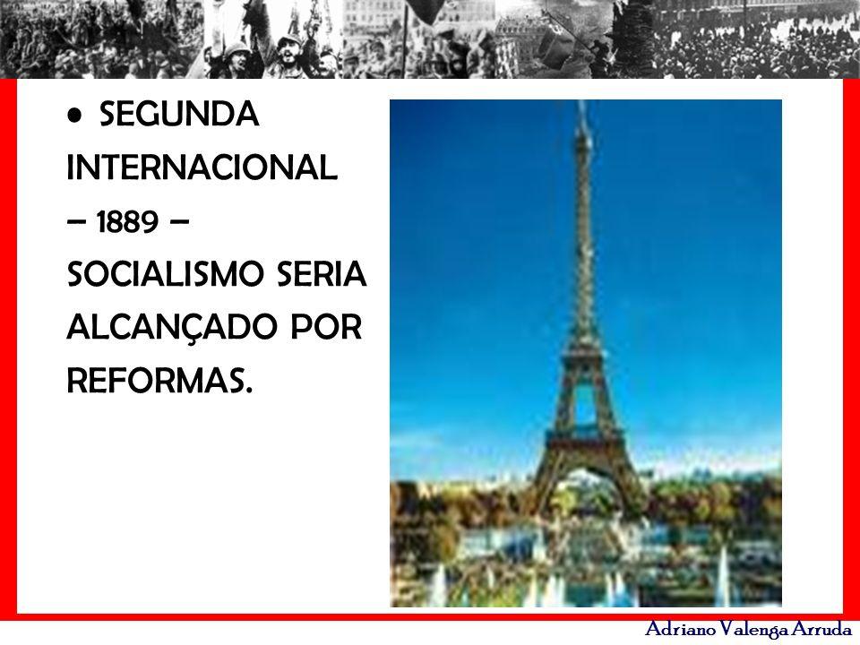 SEGUNDA INTERNACIONAL – 1889 – SOCIALISMO SERIA ALCANÇADO POR REFORMAS.