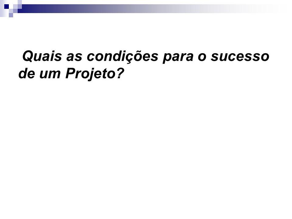 Quais as condições para o sucesso de um Projeto