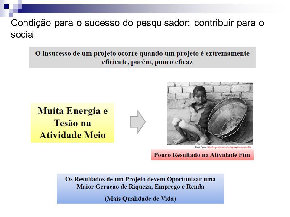 Condição para o sucesso do pesquisador: contribuir para o social