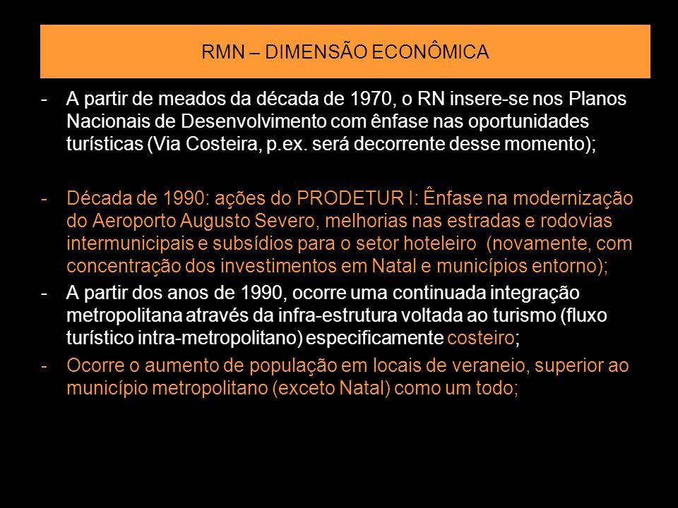 RMN – DIMENSÃO ECONÔMICA