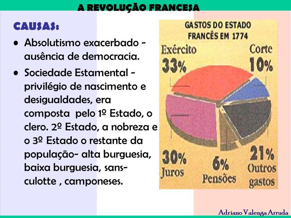CAUSAS: Absolutismo exacerbado - ausência de democracia.