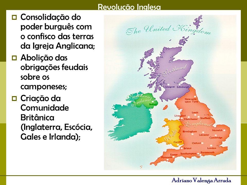 Consolidação do poder burguês com o confisco das terras da Igreja Anglicana;