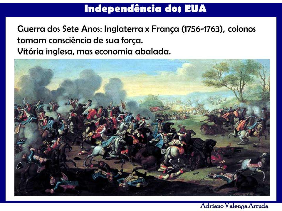 Guerra dos Sete Anos: Inglaterra x França (1756-1763), colonos tomam consciência de sua força.