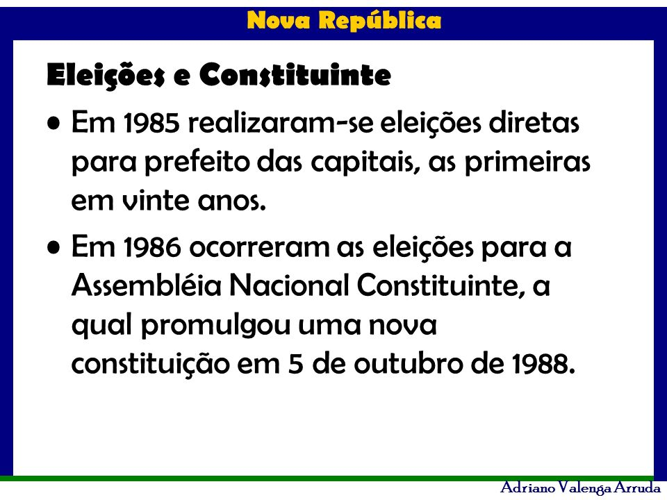 Eleições e Constituinte