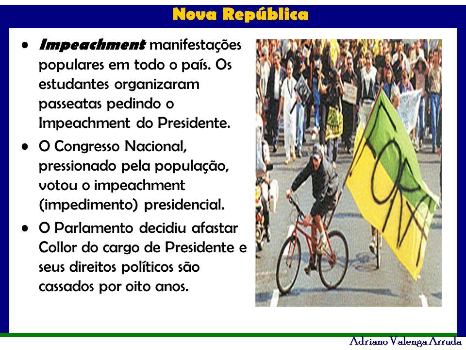 Impeachment manifestações populares em todo o país