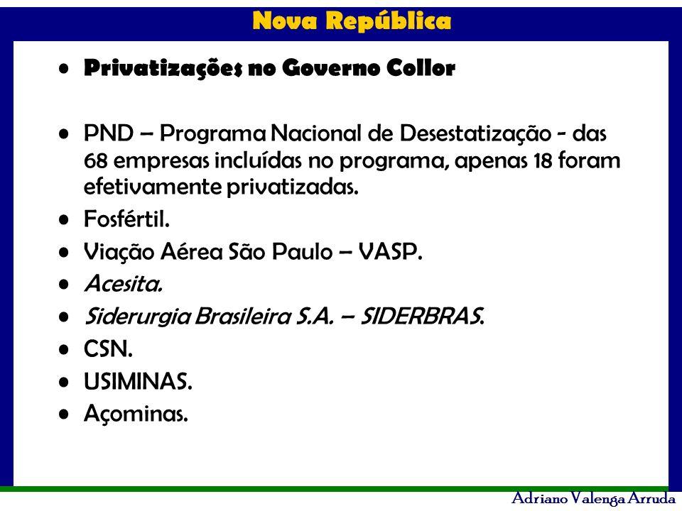 Privatizações no Governo Collor