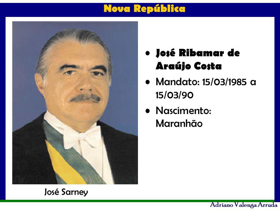 José Ribamar de Araújo Costa Mandato: 15/03/1985 a 15/03/90