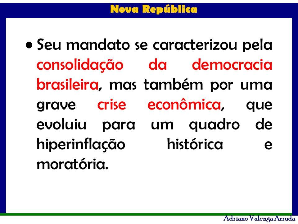 Seu mandato se caracterizou pela consolidação da democracia brasileira, mas também por uma grave crise econômica, que evoluiu para um quadro de hiperinflação histórica e moratória.