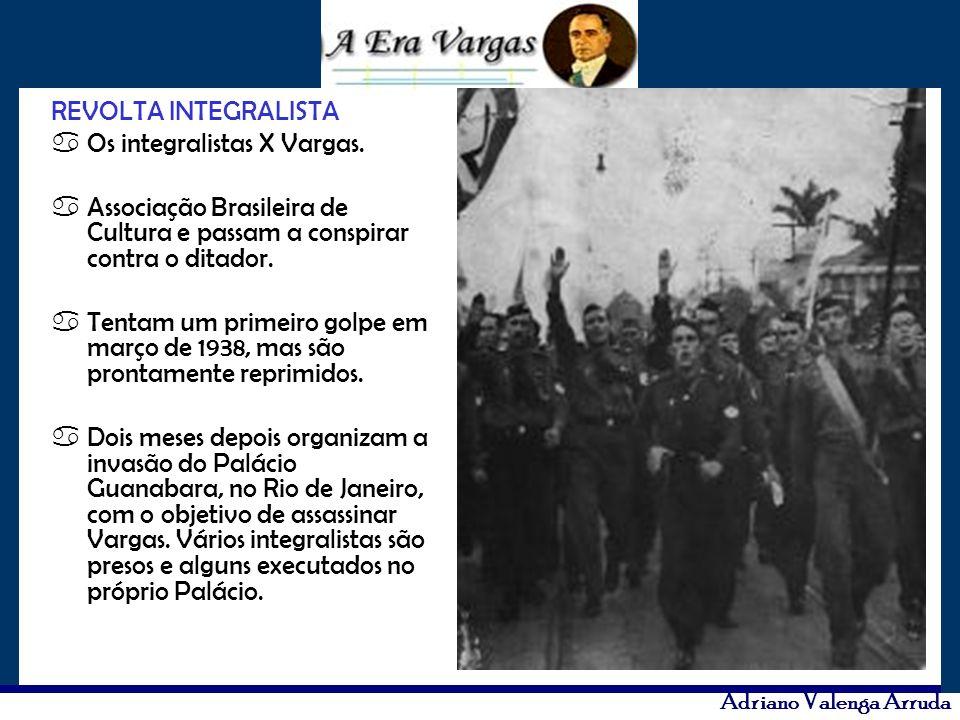 REVOLTA INTEGRALISTA Os integralistas X Vargas. Associação Brasileira de Cultura e passam a conspirar contra o ditador.