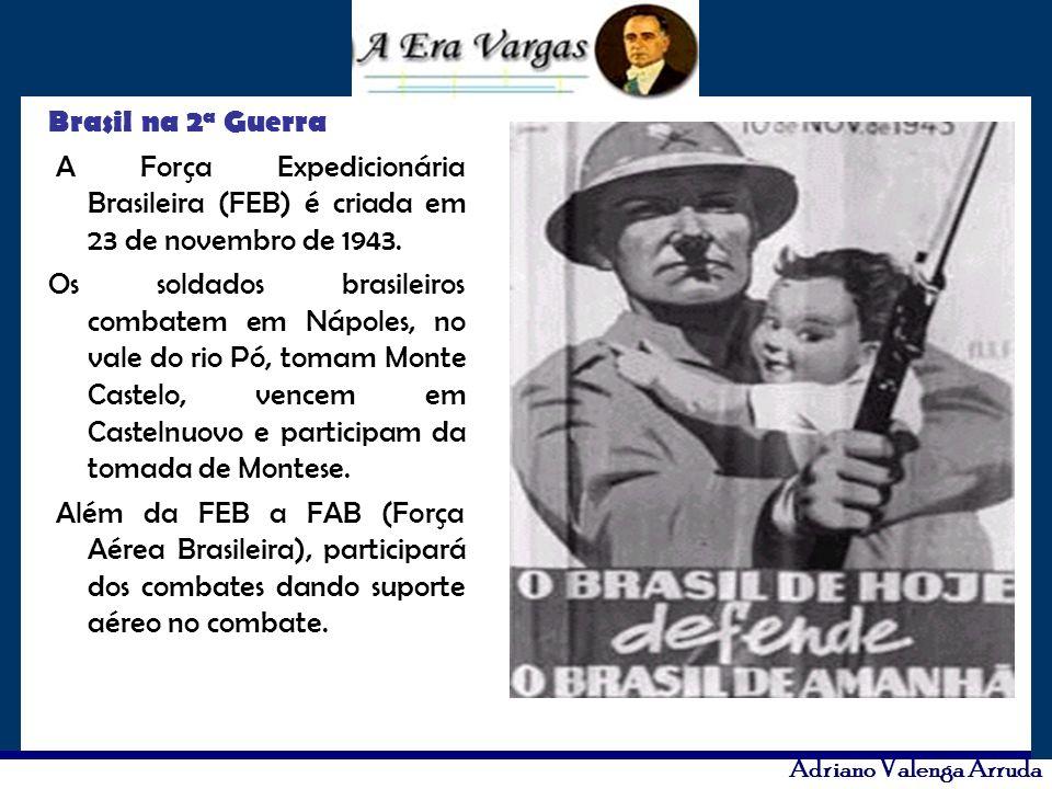 Brasil na 2a Guerra A Força Expedicionária Brasileira (FEB) é criada em 23 de novembro de 1943.