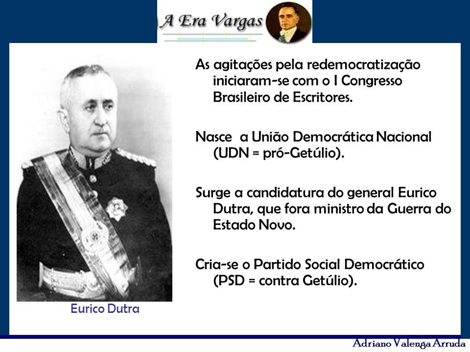 Nasce a União Democrática Nacional (UDN = pró-Getúlio).