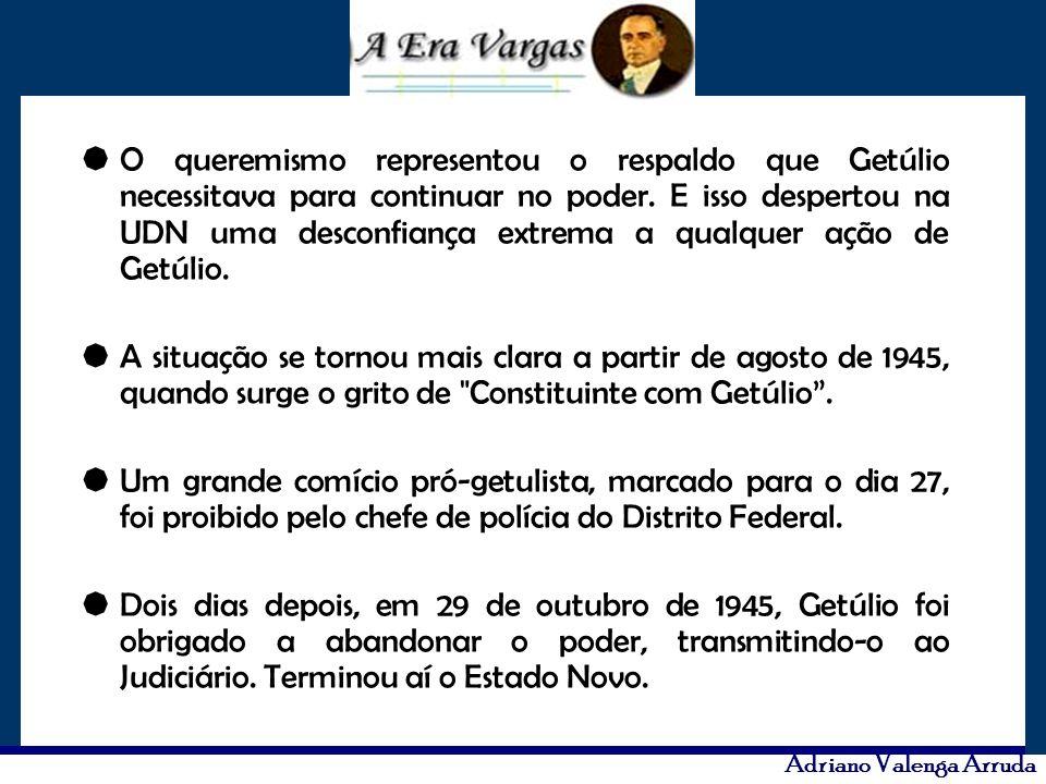 O queremismo representou o respaldo que Getúlio necessitava para continuar no poder. E isso despertou na UDN uma desconfiança extrema a qualquer ação de Getúlio.