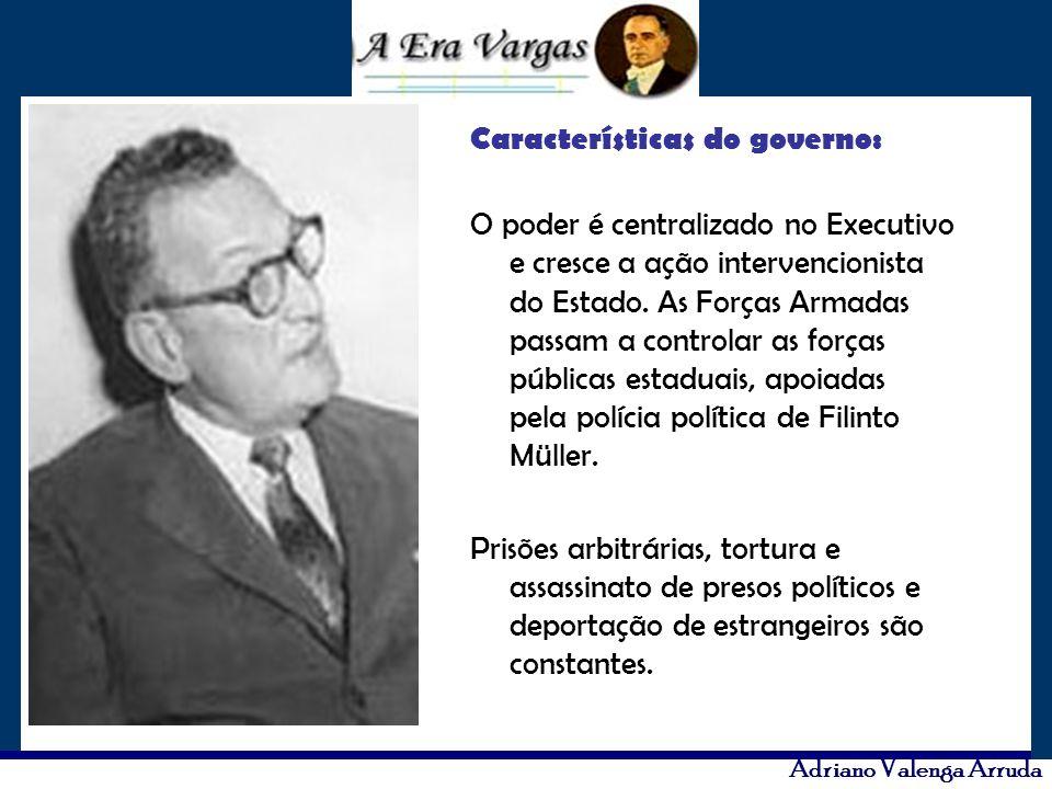 Características do governo: