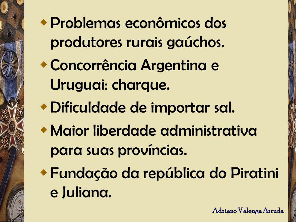 Problemas econômicos dos produtores rurais gaúchos.