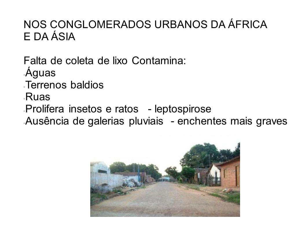 NOS CONGLOMERADOS URBANOS DA ÁFRICA