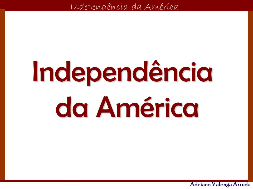 Independência da América