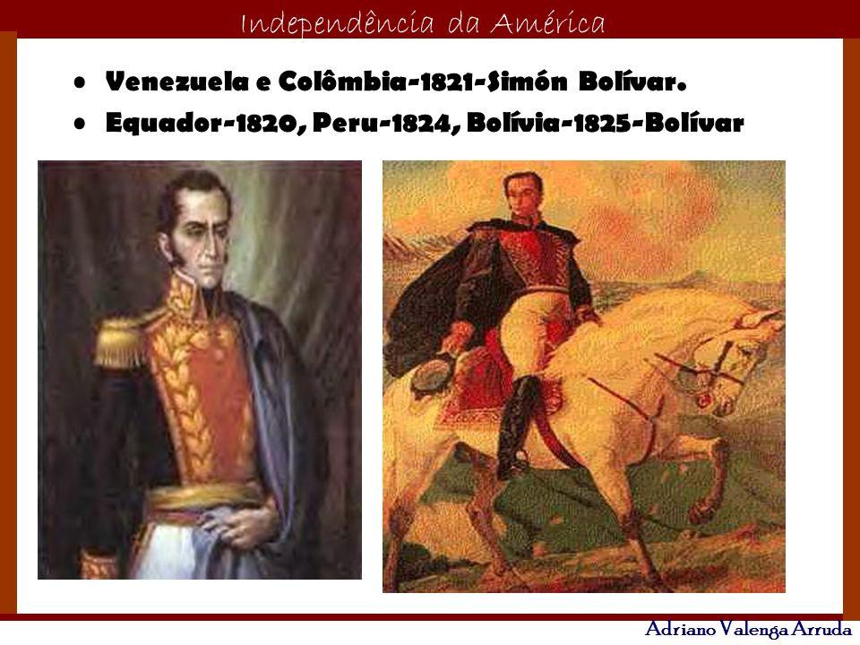 Venezuela e Colômbia-1821-Simón Bolívar.