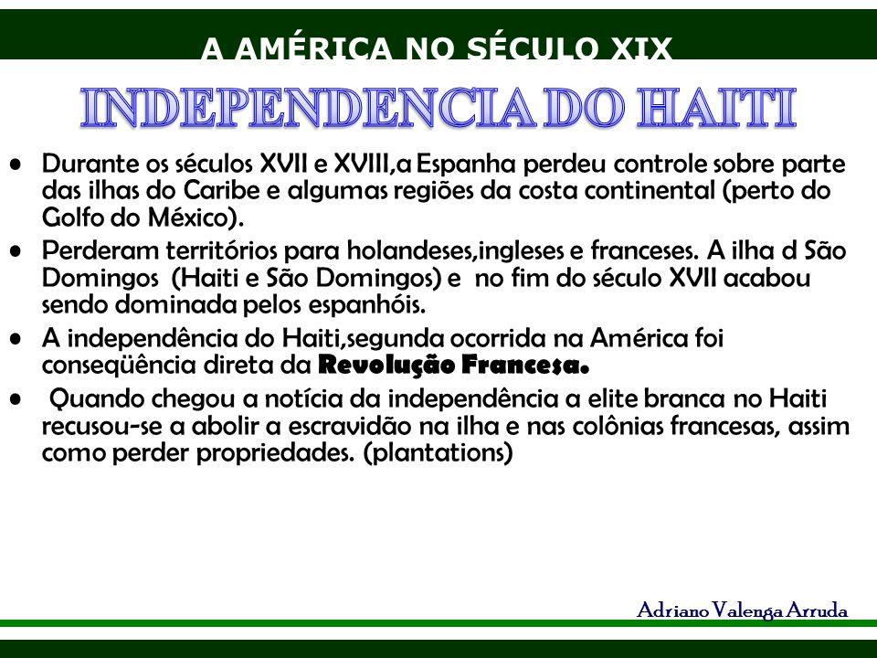 INDEPENDENCIA DO HAITI