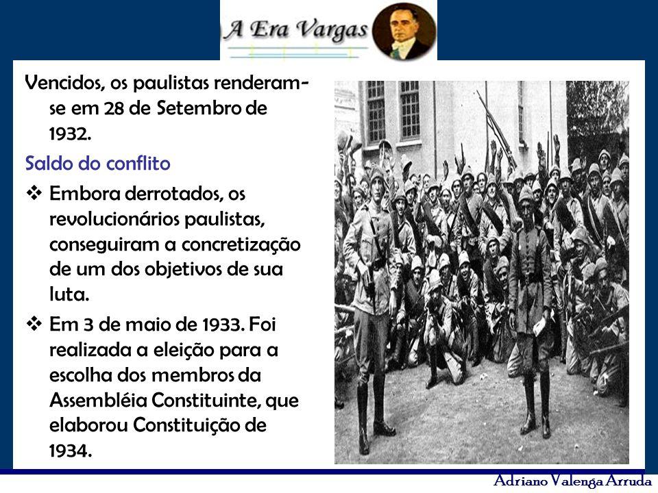 Vencidos, os paulistas renderam-se em 28 de Setembro de 1932.
