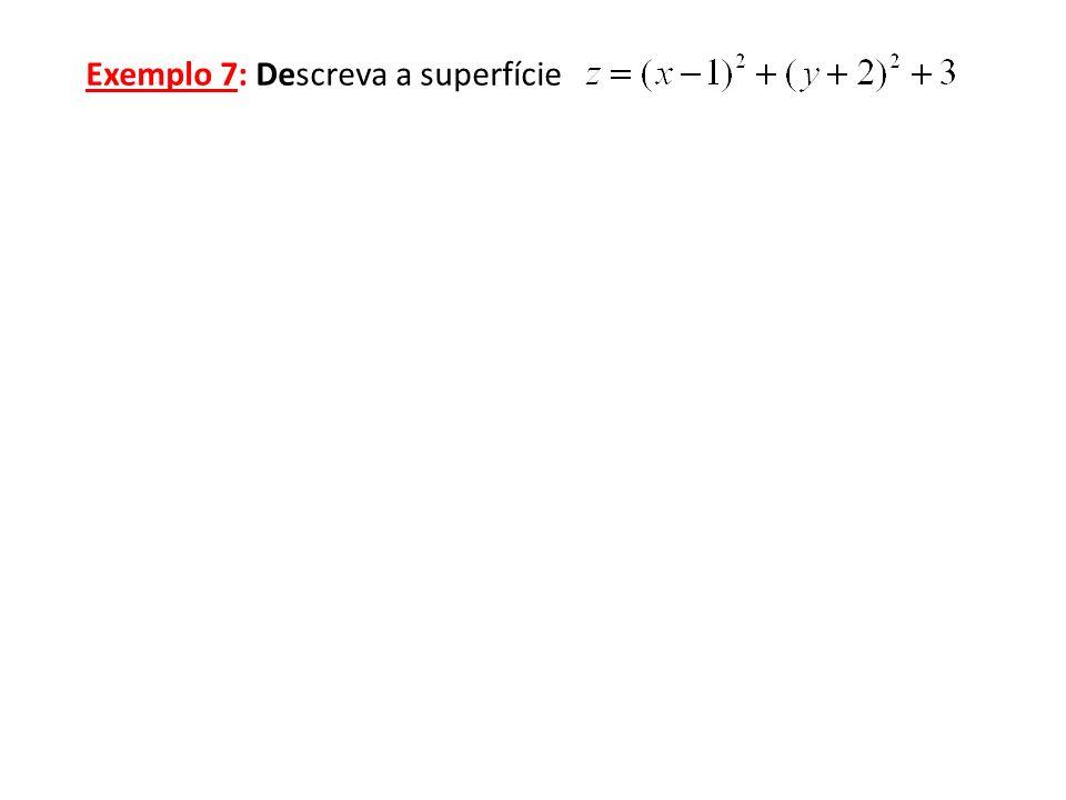 Exemplo 7: Descreva a superfície
