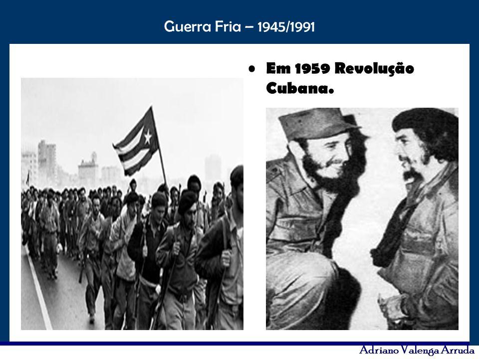 Em 1959 Revolução Cubana.