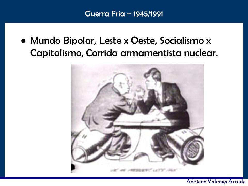 Mundo Bipolar, Leste x Oeste, Socialismo x Capitalismo, Corrida armamentista nuclear.