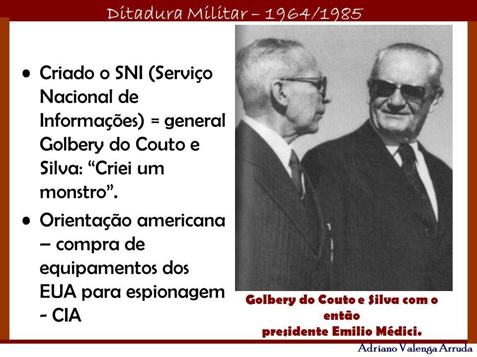 Golbery do Couto e Silva com o então presidente Emilio Médici.