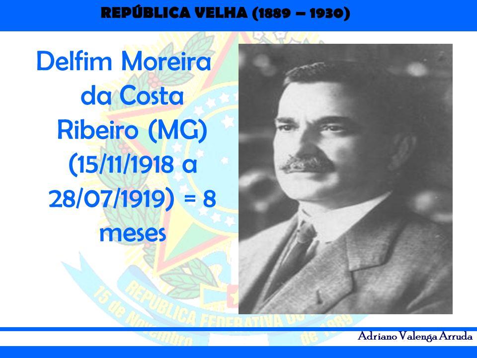 Delfim Moreira da Costa Ribeiro (MG) (15/11/1918 a 28/07/1919) = 8 meses