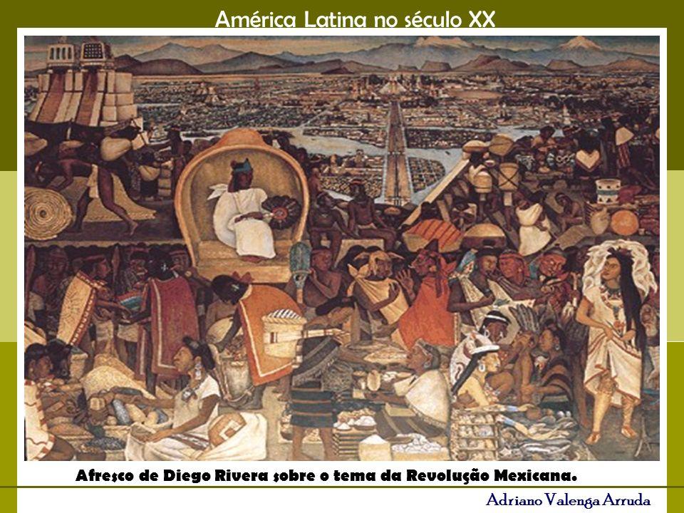 Afresco de Diego Rivera sobre o tema da Revolução Mexicana.