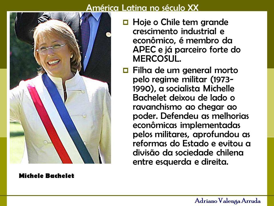 Hoje o Chile tem grande crescimento industrial e econômico, é membro da APEC e já parceiro forte do MERCOSUL.