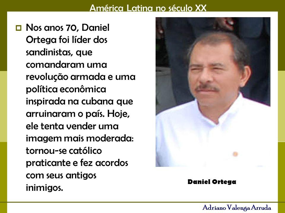 Nos anos 70, Daniel Ortega foi líder dos sandinistas, que comandaram uma revolução armada e uma política econômica inspirada na cubana que arruinaram o país. Hoje, ele tenta vender uma imagem mais moderada: tornou-se católico praticante e fez acordos com seus antigos inimigos.