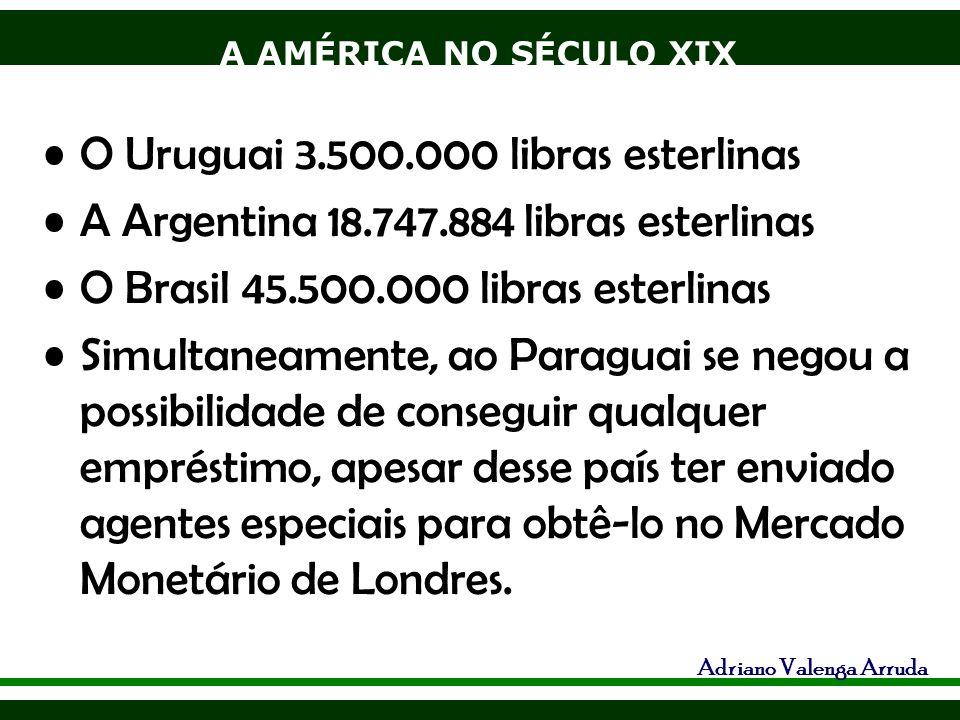 O Uruguai 3.500.000 libras esterlinas