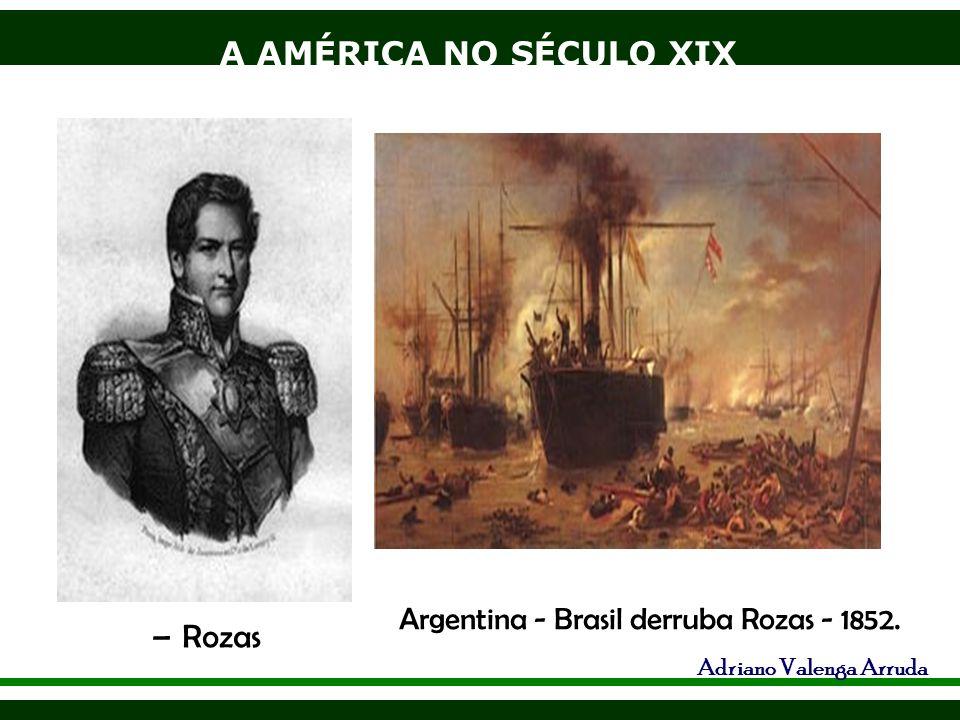 Argentina - Brasil derruba Rozas - 1852.