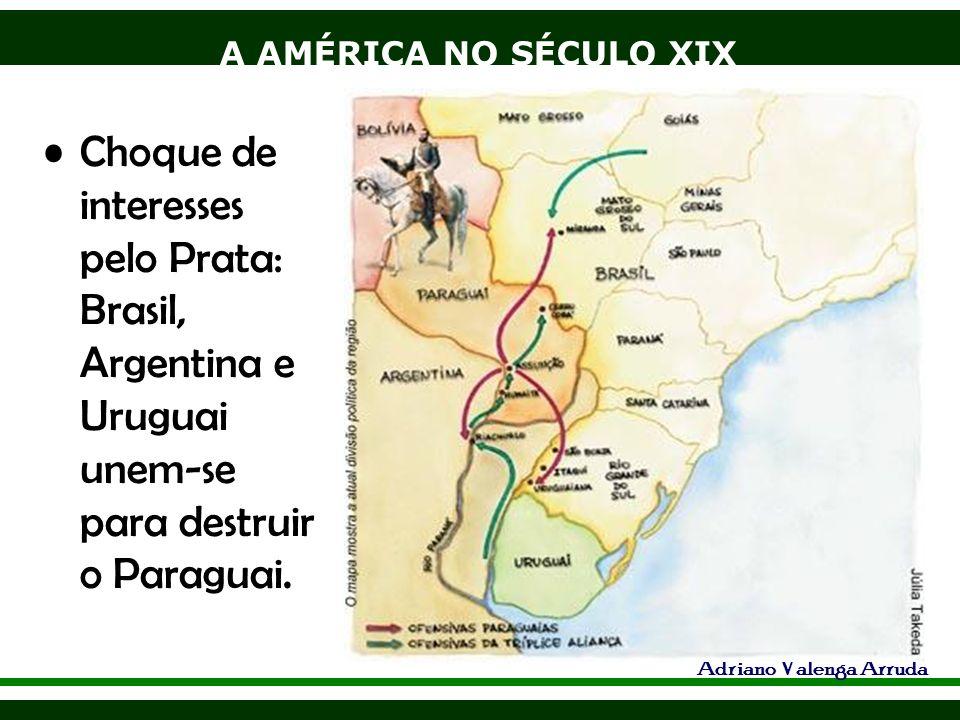 Choque de interesses pelo Prata: Brasil, Argentina e Uruguai unem-se para destruir o Paraguai.