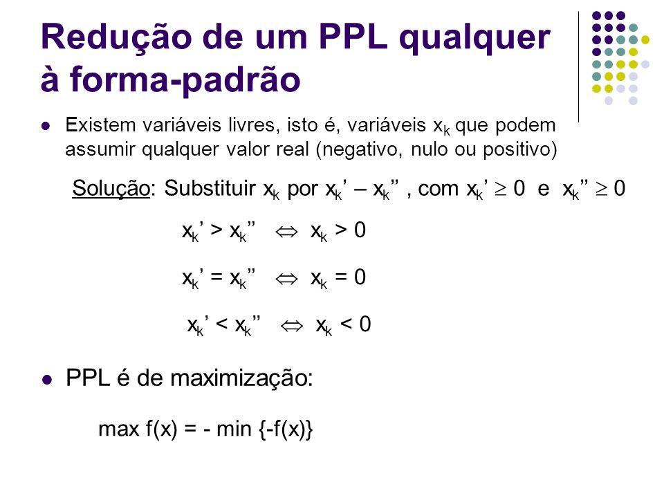 Redução de um PPL qualquer à forma-padrão