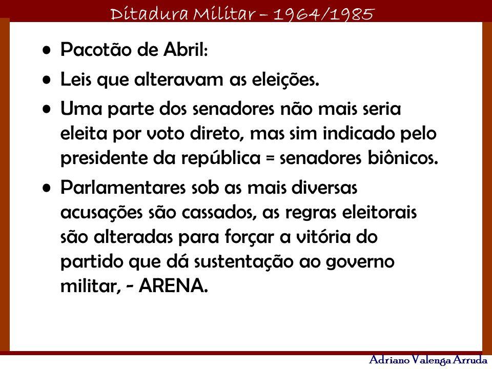 Pacotão de Abril: Leis que alteravam as eleições.