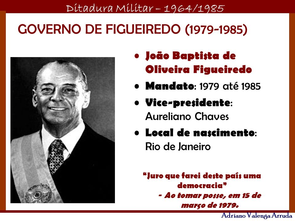 GOVERNO DE FIGUEIREDO (1979-1985)