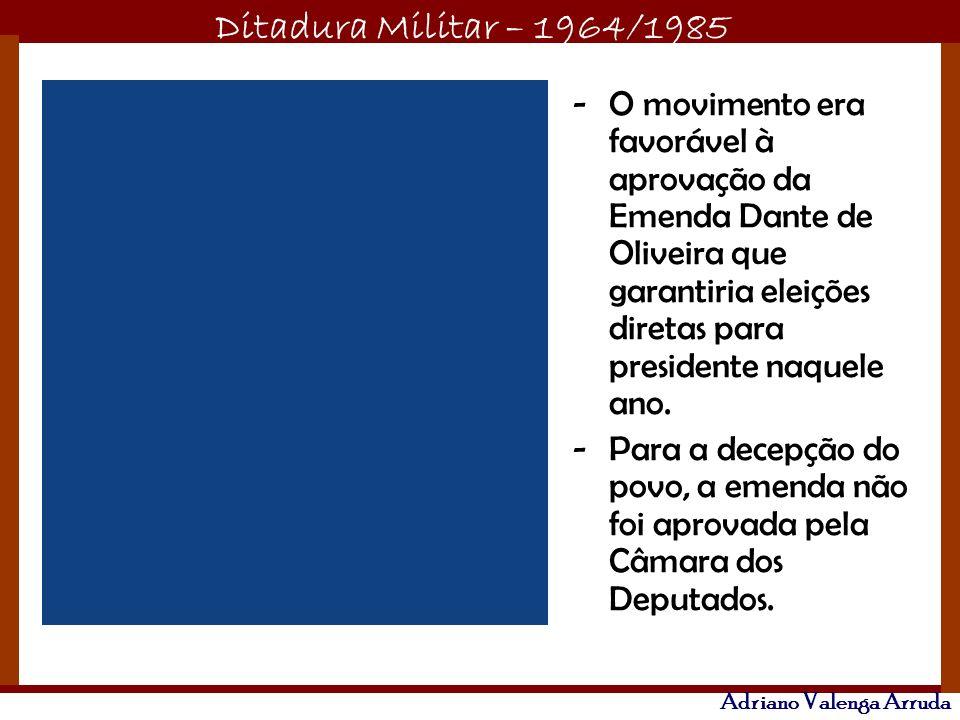 O movimento era favorável à aprovação da Emenda Dante de Oliveira que garantiria eleições diretas para presidente naquele ano.