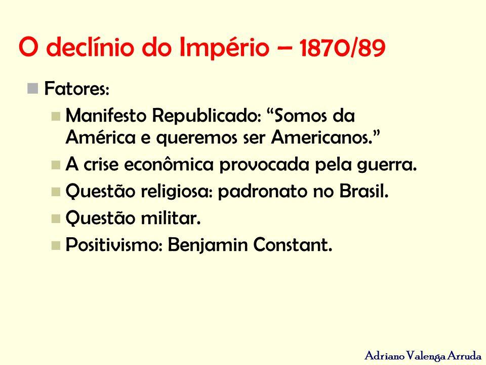 O declínio do Império – 1870/89
