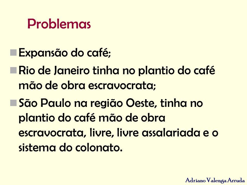 Problemas Expansão do café;